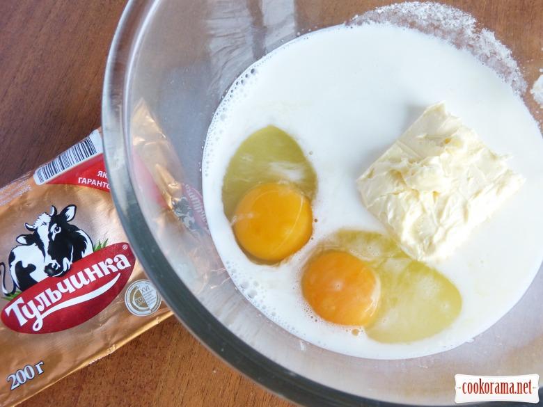 Кекс з ізюмом та цукатами