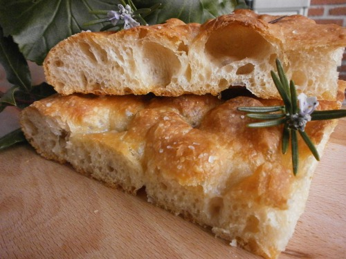 Genoese focaccia with rosemary