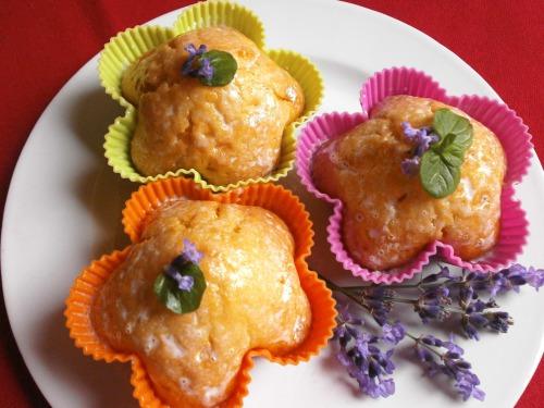 Мафіни з печеного гарбуза, ароматизовані лавандою