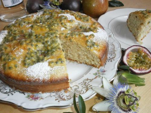 """Грушевый торт с заливкой """"Пассифлора"""""""