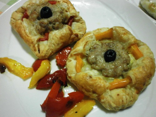 Слойки з листкового тіста з болгарським перцем