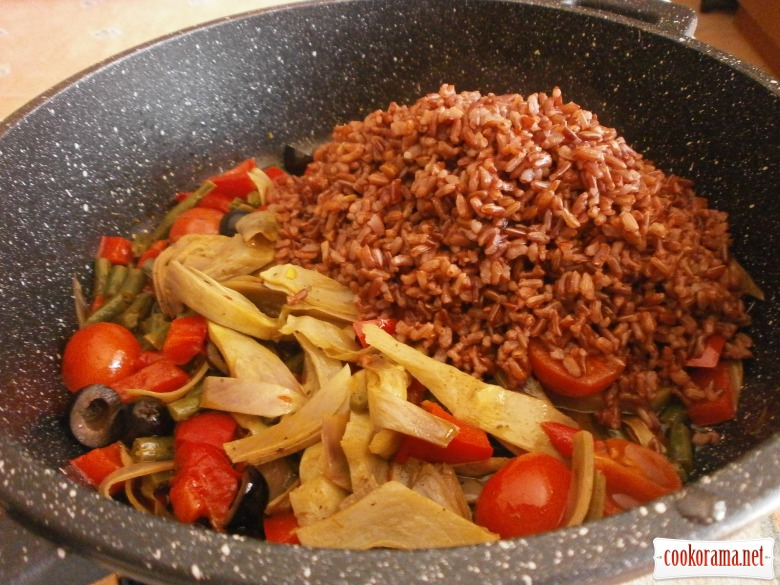 овочі рис