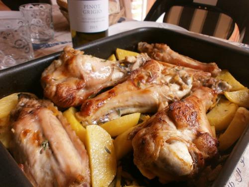 Крылья индейки, запеченные в лимонно-имбирном соусе