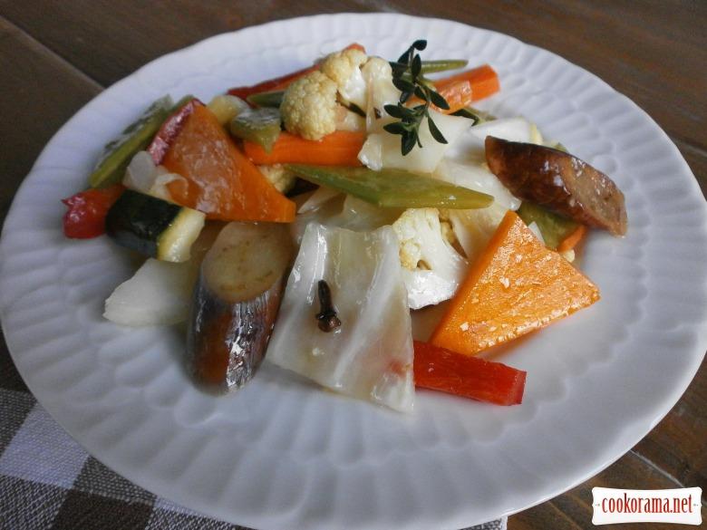 овочі маринад