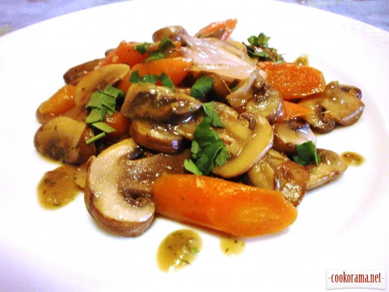 морква гриби соус