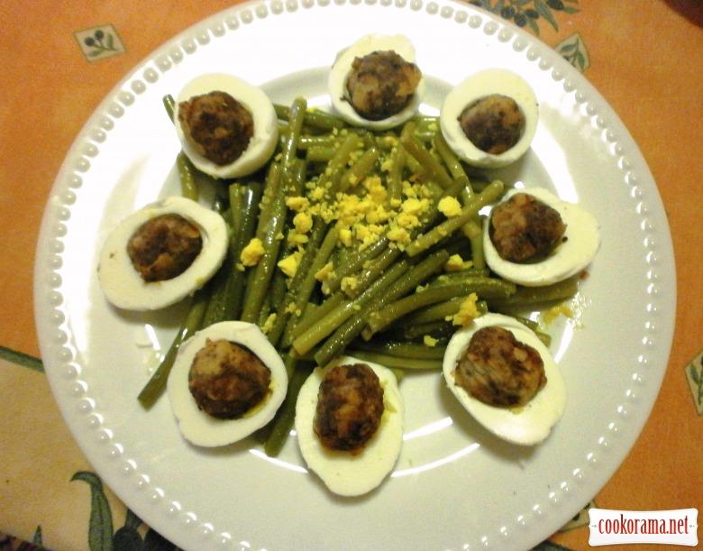 салат з пагонів часнику