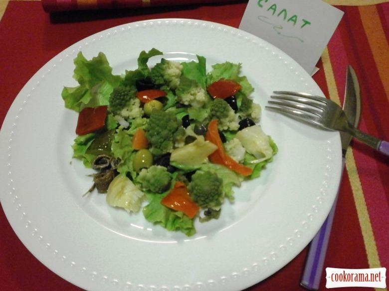 приготувати, заправити салат