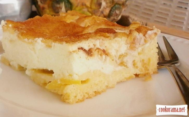 пиріг з сирм ананасом
