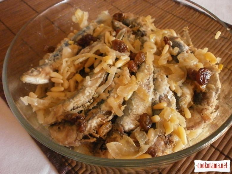 Сардини  на закуску по - венеціанськи