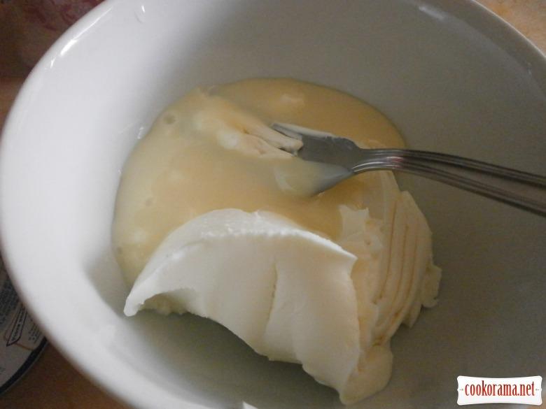 сир + згущене молоко