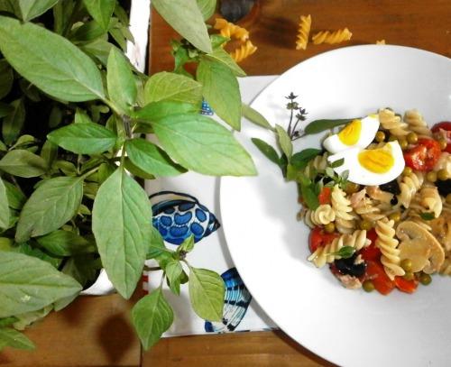 Літній салат з макаронами