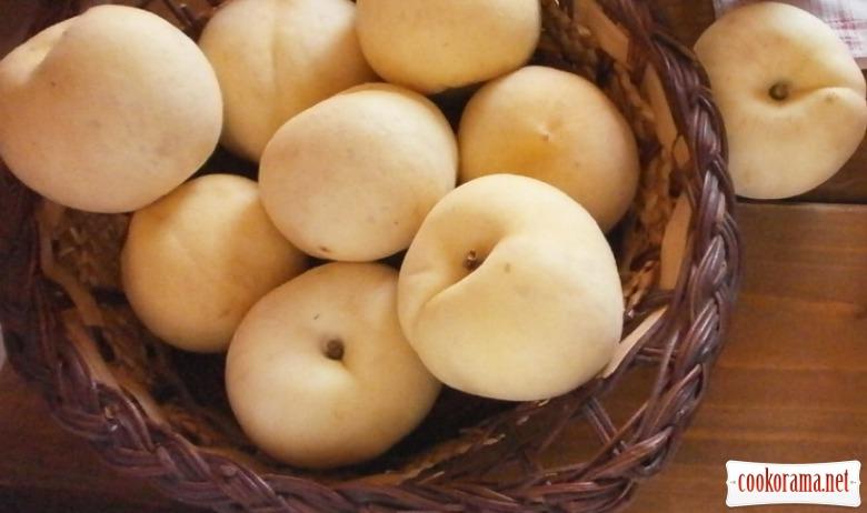 Джем персик з малиною