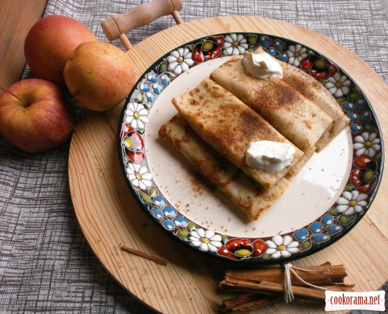 Іспанські млинці « Фресуелос» з начинкою з яблучного пюре по ірландському  старовинному рецепту