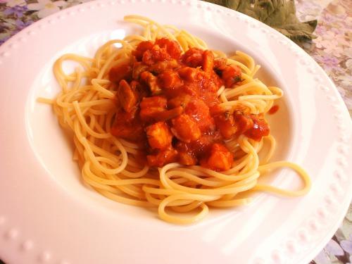 Соус з креветок і ревеню до спагетті
