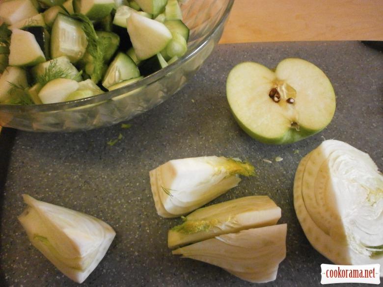 фенхель яблука огірок