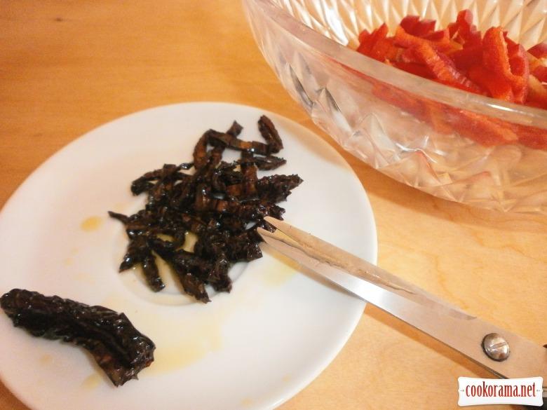 перець помідори нарізати