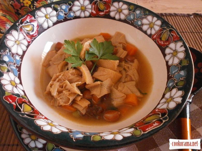 суп з телячої требухи
