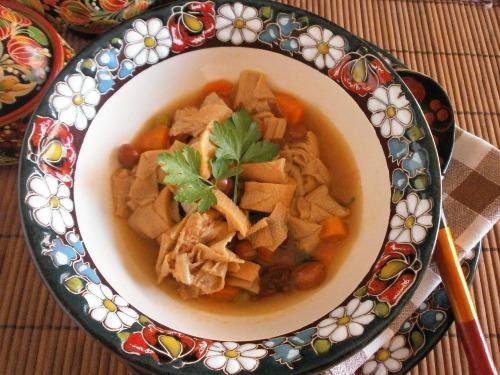 Суп з телячої требухи ( рубець)