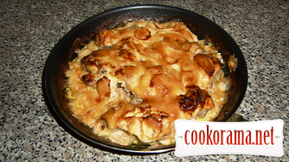 Запеченная свинина под майонезом или мясо по французски в духовке