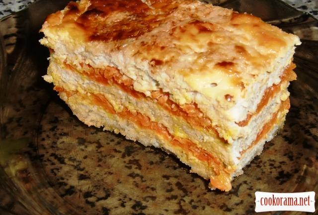 «Пирожные» из куриного филе