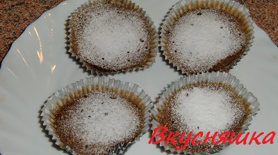 Кофейные кексики в микроволновке за 1 минуту