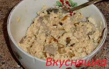 Яичный салат из норвежской сельди