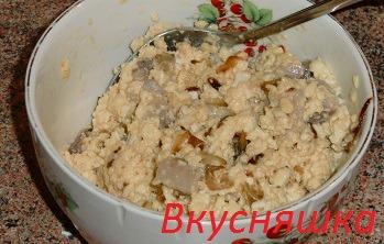 Яєчний салат з норвезького оселедця