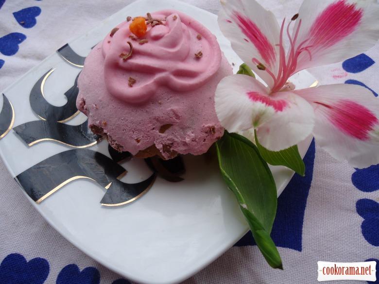 Кексы «Розовая фантазия для романтического вечера»