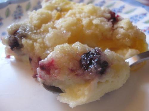 Десерт із кефіру та штрейзеля