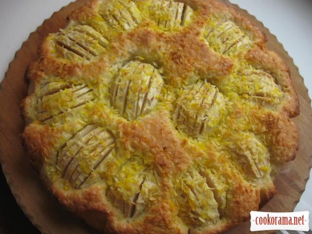 Яблучно-кокосовий пиріг