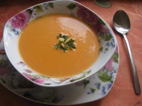 Помідорово-гарбузовий суп-пюре