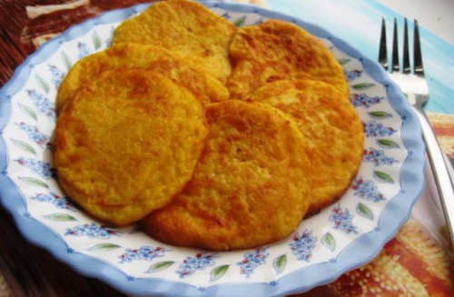 Pumpkin-onion fritters
