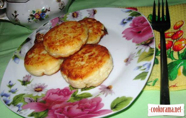 Homemade curd fritters