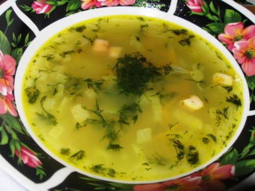 Суп із консервованого горошку