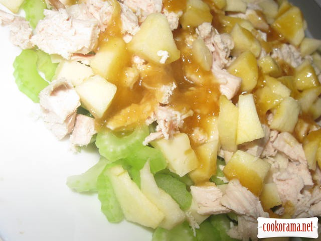 Salad of celery and chicken
