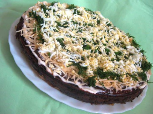 Печінковий торт запечений у духовці