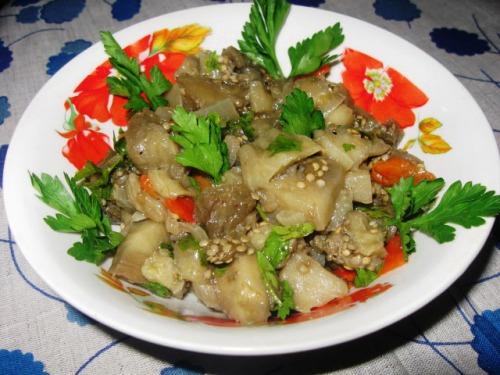 Салат із запечених овочів
