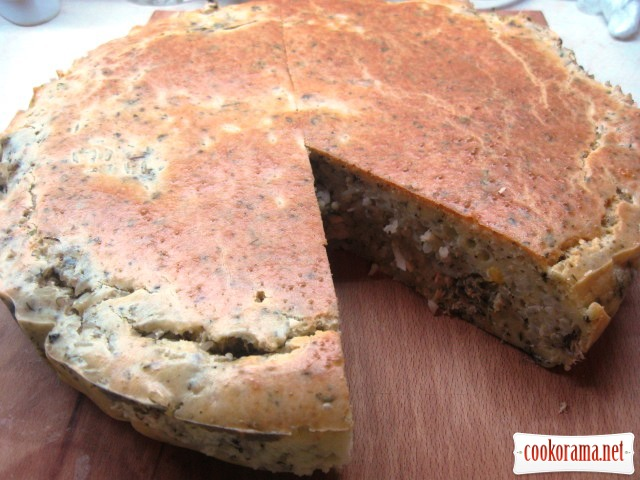 Рибний пиріг із рисом