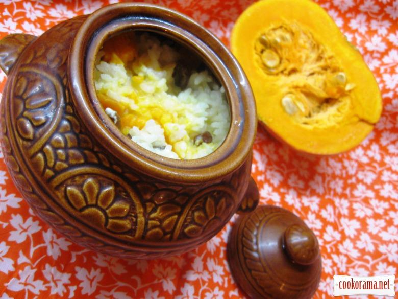 Гарбузова каша яка готується в духовці