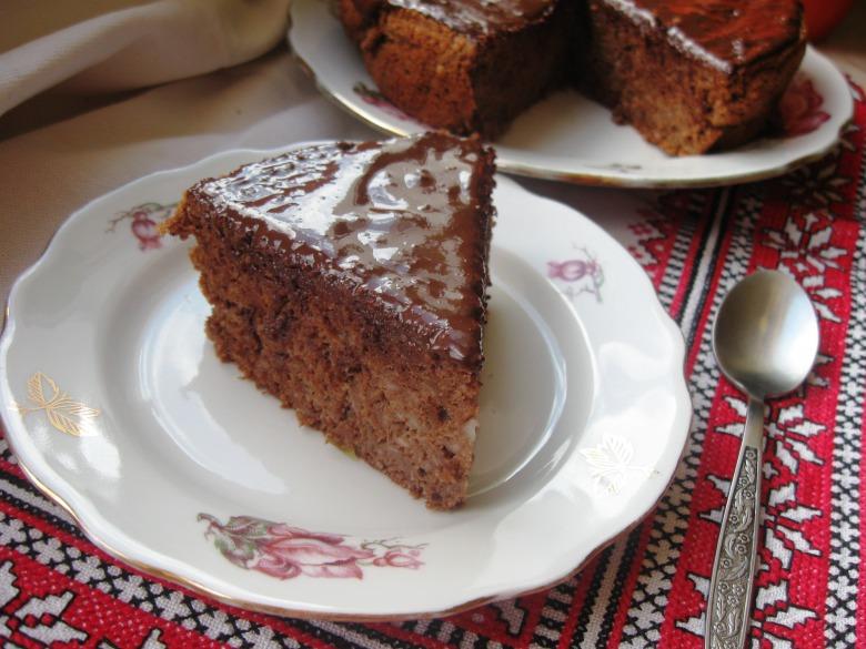 Яблучний кекс-пиріг з шоколадом