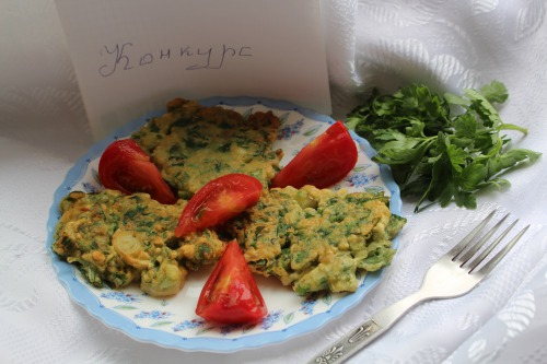 Оладки із зеленню