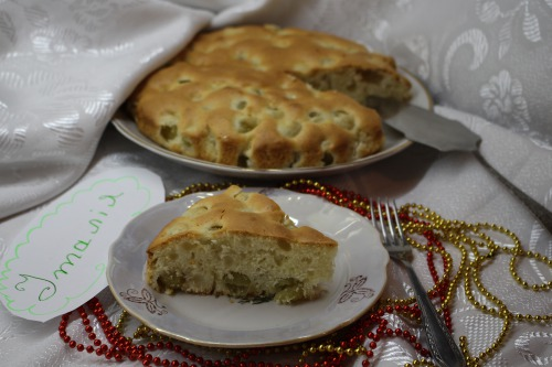 Ніжний пиріг з виноградом