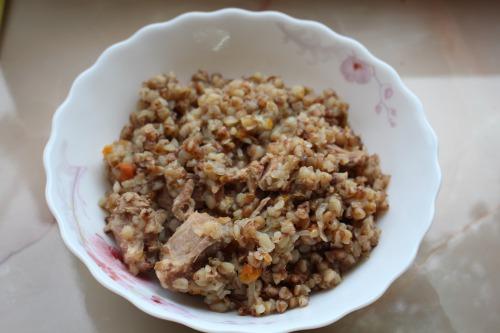 Гречана каша з мясом запечена у духовці