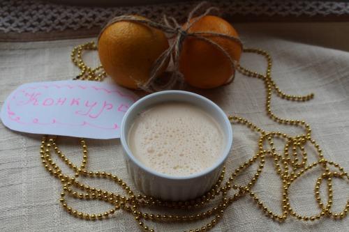 Сметанный мусс с апельсиновым желе