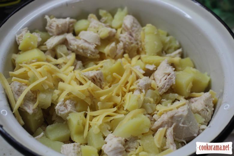 Салат с ананасом и картофелем