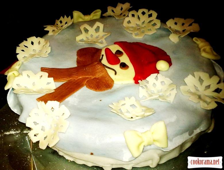 """Торт """"Сніговичок"""""""