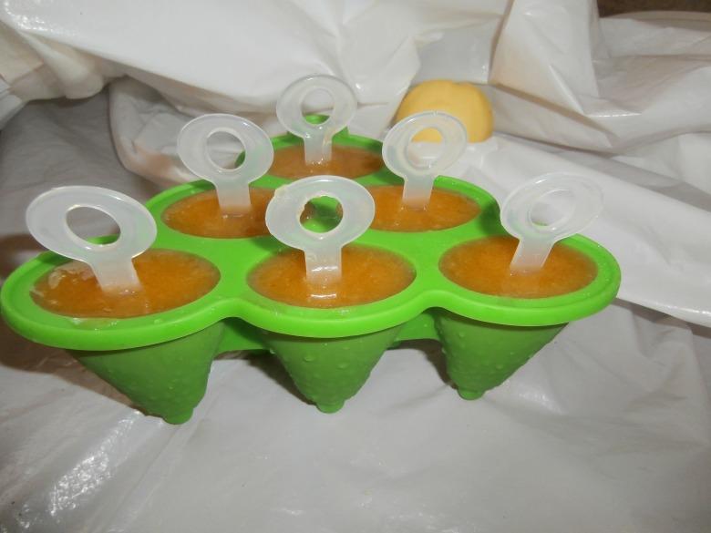 Холодная витаминка (яблучно-абрикосовое мороженное)