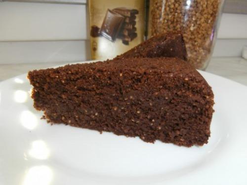 Гречано-шоколадний кекс