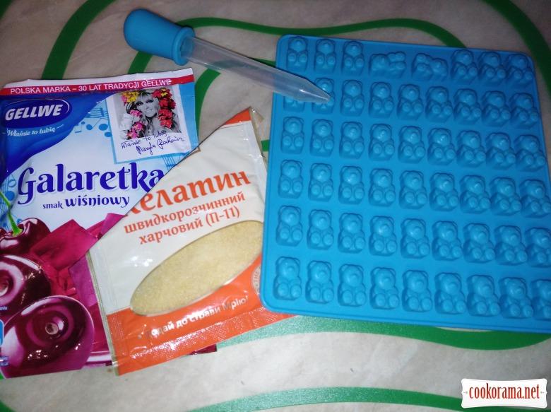 Желейні цукерки ведмедики ( gumi bear)