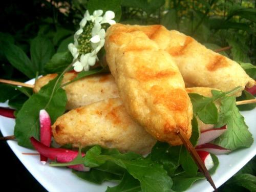 Рибний люля-кебаб на мангалі